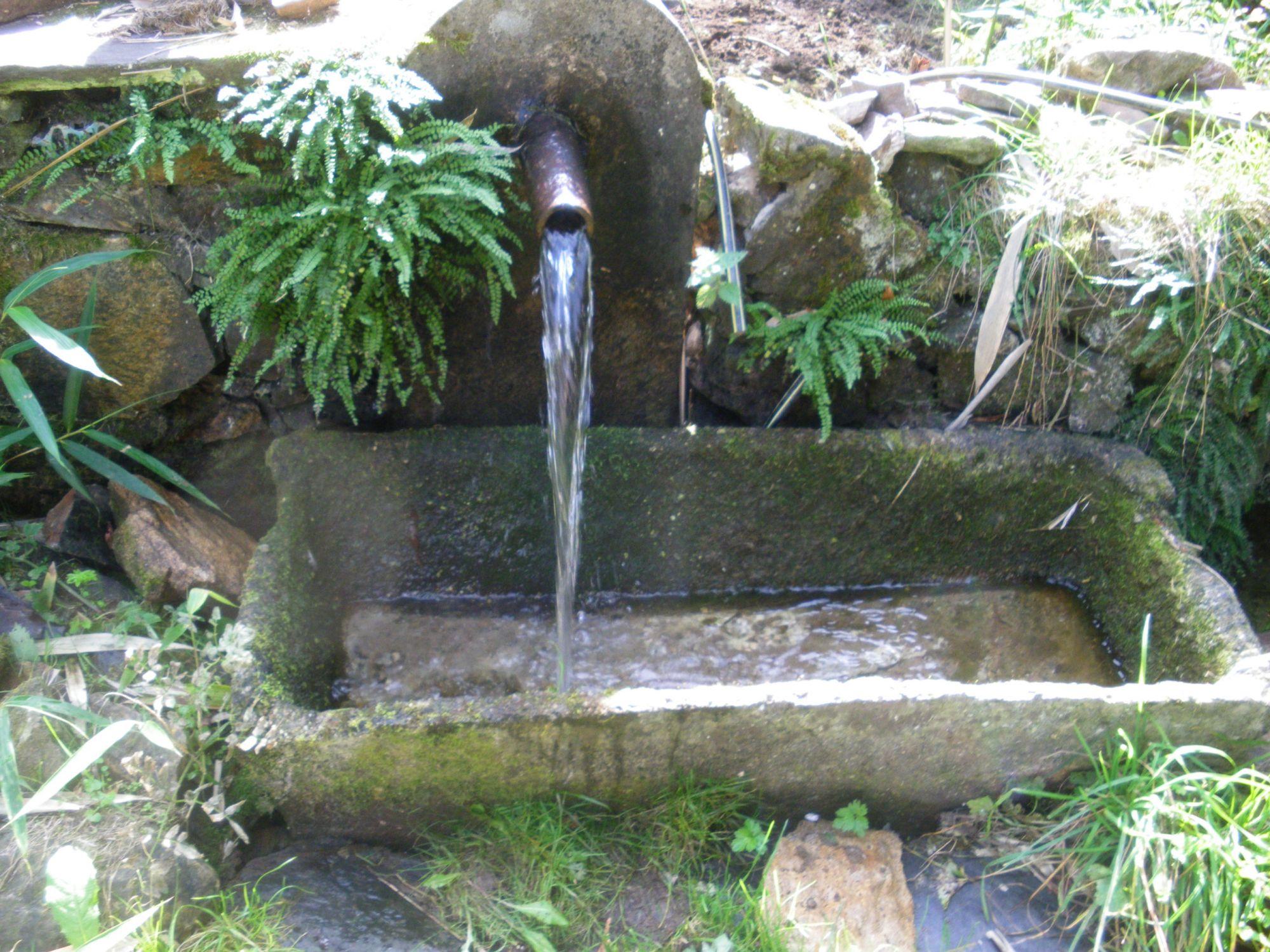 Source et fontaine